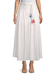 Saks Fifth Avenue Belted Maxi Skirt White