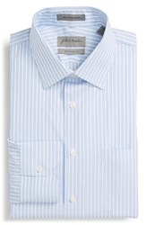 Men's Big And Tall John W. Nordstrom Traditional Fit Stripe Dress Shirt Blue Hydrangea