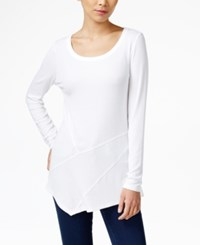 Inc International Concepts Ribbed Asymmetrical Tunic Only At Macy's Bright White