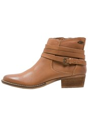 Roxy Seville Ankle Boots Brown Camel