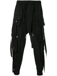 D.Gnak Pocket Designed Trousers Black