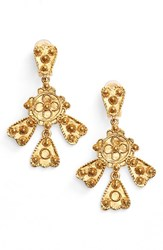 Oscar De La Renta Women's Charm Clip Earrings