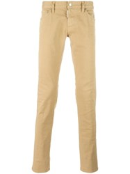 Dsquared2 Slim Creased Jeans Nude Neutrals