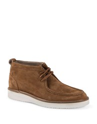 Andrew Marc New York Haven Suede Boots Walnut