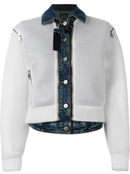 Vivienne Westwood Anglomania Mesh And Denim Jacket White