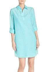 Women's Kut From The Kloth Print Chambray Shirtdress