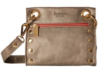 Hammitt Tony Pewter Gold Red Zipper Cross Body Handbags Brown