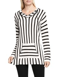 Vince Camuto Seed Stitch Striped Hoodie