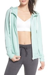 Zella Well Played Zip Hoodie Teal Surf Heather