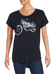 Signorelli Motorcycle Graphic T Shirt Black