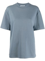 Alexander Wang T By Logo T Shirt Blue