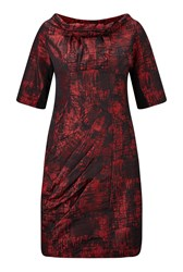 James Lakeland Taffeta Icon Dress Red