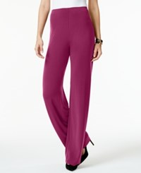 Alfani Knit Wide Leg Trousers Only At Macy's Iris Glow