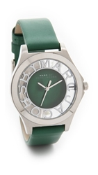 Marc By Marc Jacobs Henry Skeleton Watch Silver Green Jean