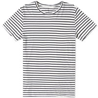 Save Khaki Marine Stripe Tee White