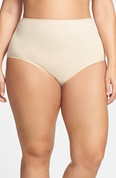 Nordstrom Stretch Cotton Briefs Plus Size 3 For 25 Beige Frappe