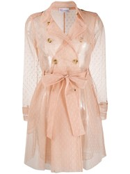 Red Valentino Point D'esprit Tulle Trench Coat 60