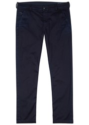 Diesel Indigo Stretch Cotton Chinos