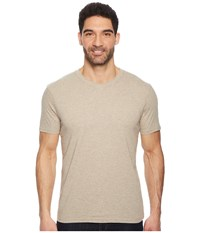 Prana R V Neck Tee Dark Khaki Heather Short Sleeve Pullover