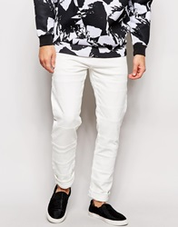 Weekday Jeans Friday Skinny Fit Off White Cut And Sew Panels Whitepatch