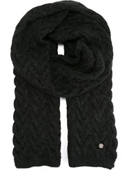 Woolrich Knitted Scarf Black