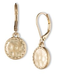 Lonna And Lilly Hammered Goldtone Drop Earrings