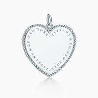 Tiffany And Co. Twist Heart Charm In Sterling Silver Extra Large. No Gemstone