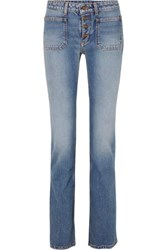 Saint Laurent Low Rise Flared Jeans Indigo