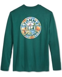 Tommy Bahama Men's Relax Graphic Long Sleeve T Shirt Briny Deep