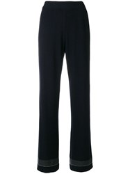 Fabiana Filippi Bead Embellished Flared Trousers Blue