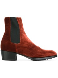 Raparo Velvet Chelsea Boots Yellow Orange