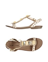 Janet And Janet Sandals Ivory