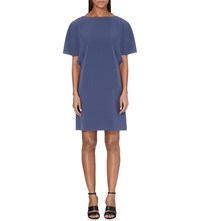 Reiss Lucana Cap Sleeve Dress Storm Blue