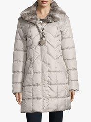 Betty Barclay Quilted Coat Light Silver
