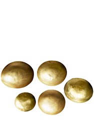 Tom Dixon Small Form Set Of 5 Brass Bowls