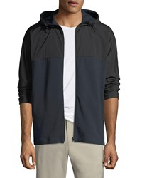Theory Caliber Terry Combo Tech Hoodie Jacket Eclipse
