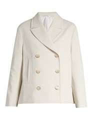 Brunello Cucinelli Double Breasted Jersey Jacket Ivory