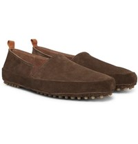 Mulo Suede Loafers Chocolate