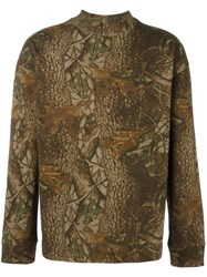 Yeezy Season 3 Forest Green Print Sweatshirt
