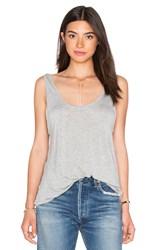 Frame Denim Le Slouchy Scoop Tank Gray