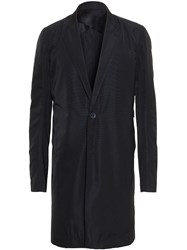 Rick Owens Long Tailored Coat Black