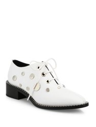 Proenza Schouler Studded Leather Oxfords White