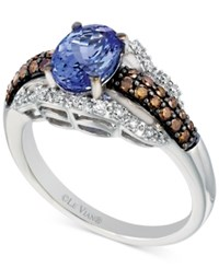 Le Vian Chocolatier Tanzanite 1 Ct. T.W. And Diamond 3 8 Ct. T.W. Ring In 14K White Gold