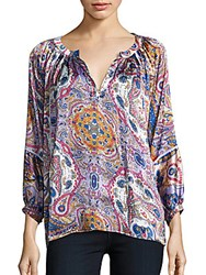 Kas Paisley Printed Blouse Multicolor
