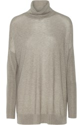 Line Randel Modal And Cashmere Blend Turtleneck Sweater Gray