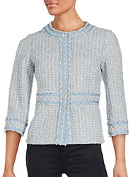 Lafayette 148 New York Reagan Wool Blend Tweed Jacket Reservoir