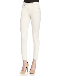 Alexa Chung For Ag The Brianna High Waist Skinny Jeans Sulfur Natural
