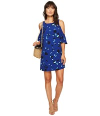 Kensie Floating Petals Dress Ks6k7995 Dark Sapphire Combo Women's Dress Multi