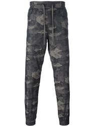Helmut Lang Camouflage Track Pants Brown