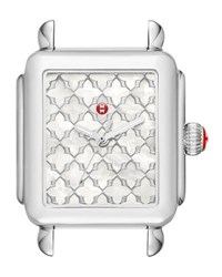 Michele Deco Mosaic Stainless Steel Watch Head Silver